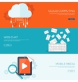 Flat background Social media vector image