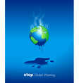 Stop Global Warming Design vector image