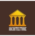 with a building icon vector image