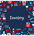 Dentistry design template with flat medical icons vector image vector image