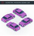 purple sedan car vector image vector image