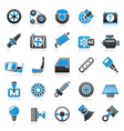 Car parts and services icons vector image vector image