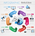 Media and News Infographics vector image vector image