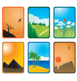 nature cards vector image vector image