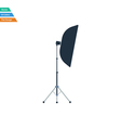 Flat design icon of softbox light in ui colors vector image vector image