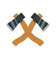 Axe logo steel isolated and sharp axe cartoon vector image