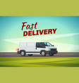 delivery truck or van for transportation design vector image