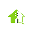 green house abstract symbol logo vector image
