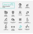 Medical Equipment - line design pictograms set vector image