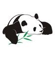 panda with bamboo logo vector image