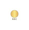 Rec computer symbol vector image