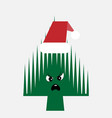 santa claus hat in the shape of a festive vector image