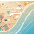 Summer holidays template plus EPS10 file vector image
