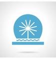 Festive fountain glyph style icon vector image