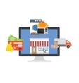 Online Shopping process vector image