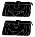 Wallets silhouette vector image