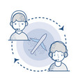 global delivery call center services vector image