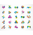 creative digital abstract colorful logos vector image vector image