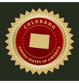 Star label Colorado vector image vector image