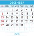 Monthly calendar vector image vector image