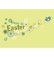 Easter greeting card with cute little bird vector image vector image