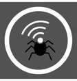 Radio spy bug flat black and white colors rounded vector image