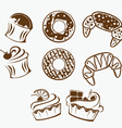bakery collection vector image
