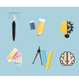 Set of Creative Tools Idea Graphic Design Concept vector image