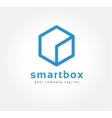 Abstract box logo icon concept Logotype template vector image