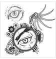 Abstract eye for tattoo design vector image