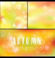 background autumn golden bokeh as background vector image