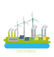 environment energy ecology green sustainable vector image