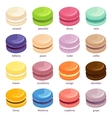 Macaron or macaroon icon set vector image