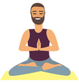 Man doing yoga vector image