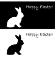 Monochrome silhouette of an Easter bunny vector image