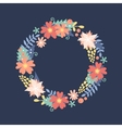Nature flowers wreath with flowers foliage vector image