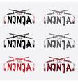 ninja bar concept design template vector image