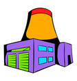 nuclear power plant icon icon cartoon vector image