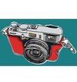 Rangefinder camera sketchbook vector image