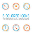 repair icons set collection of bolt digging vector image