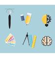 Set of Creative Tools Idea Graphic Design Concept vector image