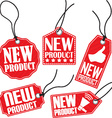 New product red tag set vector image