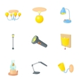Light icons set cartoon style vector image