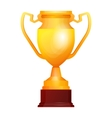 Winners gold cups Set of different golden bowls vector image vector image