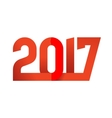 2017 Happy New Year logo vector image