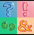 jewel punctuation marks vector image vector image