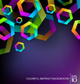 colorful hexagons vector image