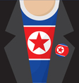 North Korea T-Shirt vector image