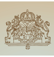 Detailed Vintage Royalty Emblem vector image