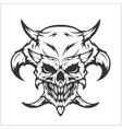 Horned skull - isolated on white vector image